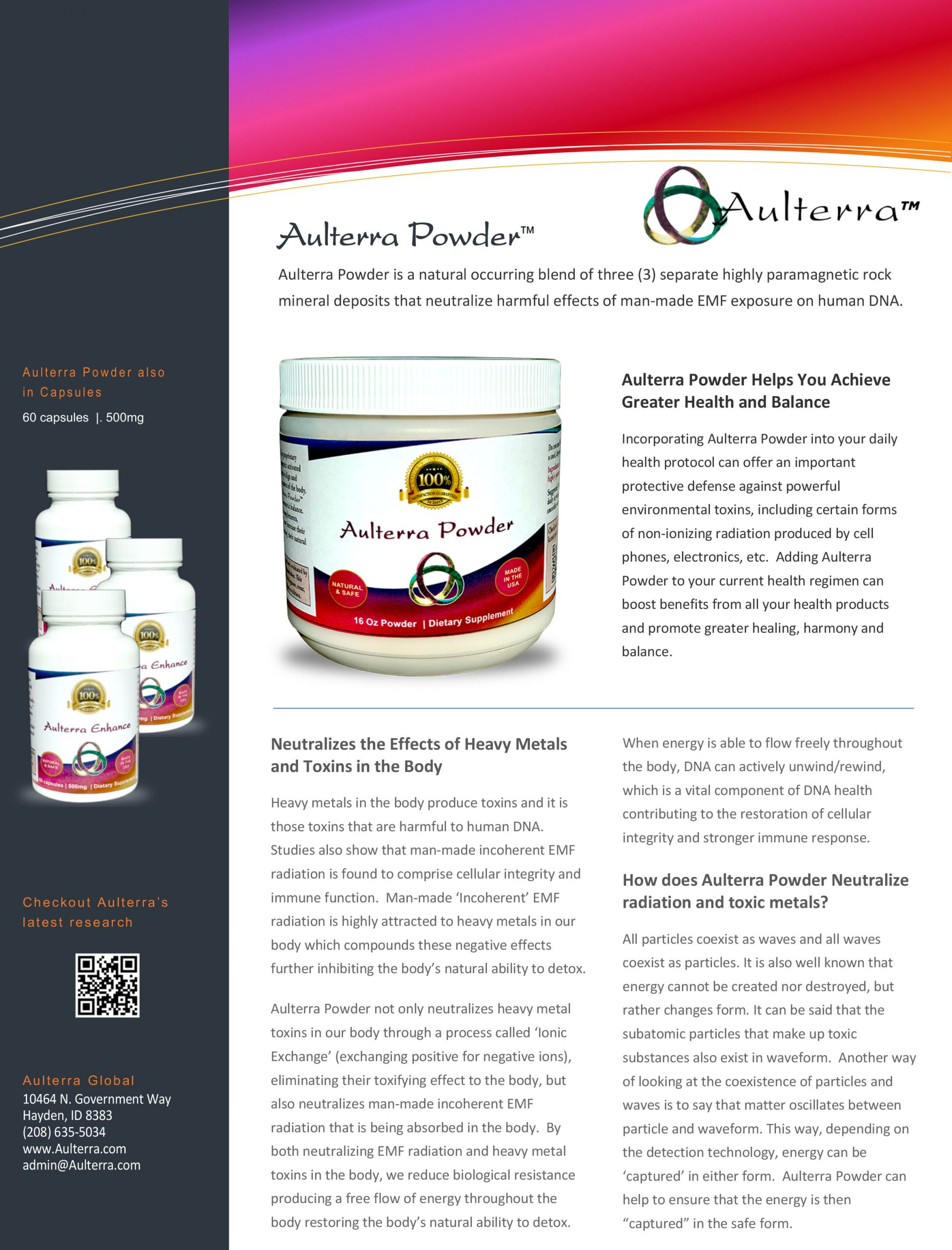 Aulterra Powder Brochure